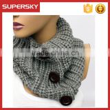 A-55 chunky neck warmer scaves knitted winter neck scarf wool neck warmer