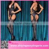 Adult Sexy Mature Open Back transparent bodystocking