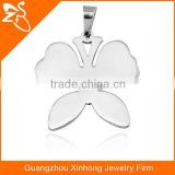 Fancy Butterfly Shaped 316L Stainless Steel Pendant Necklace Design For Girls Stainless Steel Jewelry Pendant Necklace