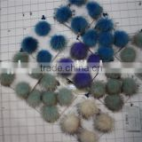 Hat Accessory Genuine Raccoon Fur Pompom / Raccoon Fur ball For Hats / Raccoon Fur ball keychain
