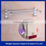 Metal modern round hotel Double 40cm Towel Bars Bathroom Accessories towel rack