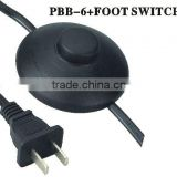 CCC approval in line foot switch power cord plug for salt lamp