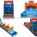 New design giant best quality commercial plastic grade water slides inflatable water slide for sale with pool