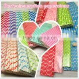 Eco Friendly 100% Recycled Biodegradable Paper Straw Party Straws