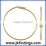 1/20 14K Gold Filled Jewelry Findings .70x30.0mm Wire Beading Hoop