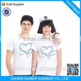 Fashion Unisex Couple T Shirts 100% Cotton Crewneck Short Sleeve Cheap From China Clothing Manufacturer