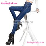 China wholesale cheap pent style fancy girl jeans                                                                         Quality Choice