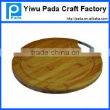 Zebra Stripes Round Cutting Board, Round Bamboo Cutting Board with Ring, Bamboo Round Chopping Board