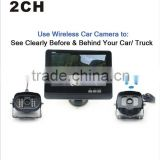 "7"" High resolution TFT LCD dual lens car rear view / reverse camera"