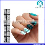 6 Styles Reusable Stamping Tool DIY Nail Art sticker Hollow Template Nail Stickers                                                                         Quality Choice