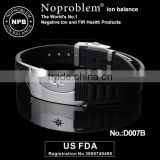 Noproblem D007 FDA man germanium tourmaline power energy balance magnetic charm men bracelet
