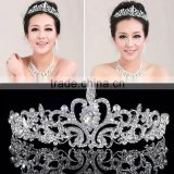 Silver Wedding Bridal Princess Crystal Rhinestone Pageant Prom Hair Tiara Crown Headband Jewelry