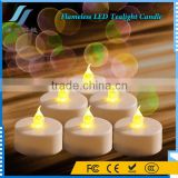 12Pcs Yellow Flameless LED Tealight Candle Flicker for Wedding Birthday Party Christmas Home Decoration