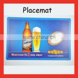 Custom made full color printing Beer PP placemat , pp table mat, plastic eat mat