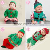 trade assurance New fashion hot sale wholesale kids party costume Christmas elf costume for sale