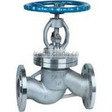 Cryogenic Carbon steel bellow seal flange globe valve for steam