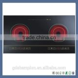 Kitchen appliances cheap induction cooktop 2 Two burner hob induction cooker for Chafing dish / hotpots/BBQ/Barbecue