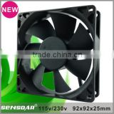 High speed low consumption ac fan 92x92x35 mm 115V Sleeve bearing ac axial fan 230V ac cooler for Commercial Freezer