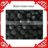 Free shipping Black Sponge Foam Ball Clip Circus Clown Nose Comic Halloween Costume Party
