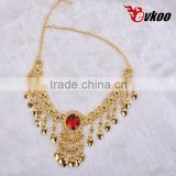 EVKOODance Accessories Indian Jewelry Accessories Beautiful Oriental Dance Accessories Necklace Belly Accessory Gold color