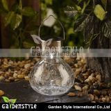 New Product Crackle Glass Bulb White Led Jar Light Hanging Light Decoration Rechargeable