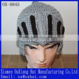 China factory customised knight helmet Beanies,knitted caps