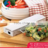White Plastic Portable Handheld Food Vacuum Sealer