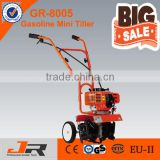 Long working life 52cc garden tool mini tiller/scarifier