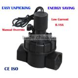 1inch 12vdc manual control electric media water hydraulic solenoid valve