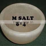 100 % Food Grade Himalayan Salt Salad Bowl / Rock Salt Food Grade Serving Bowl for fruits Pakistan