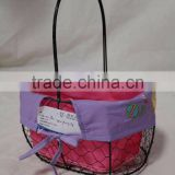 wholesale stainless wire mesh egg basket steel wire easter egg basket chicken wire egg basket