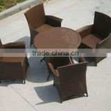 PE rattan arm chair and talbe