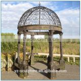 Outdoor round chinese antique metal garden gazebo