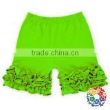 Stylish Design Solid Color Baby Ruffle Cotton Shorts Many Colors Cheap Baby Boy Shorts