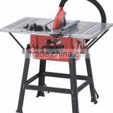 10 inch electric table saw for woodwork steel table with two extension table