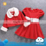 Wholesale baby girls dress photo modern girls dresses girls red coat and frocks design kids red polka dot christmas dress