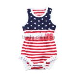 2017 wholesale boutique one piece set 4th of July baby romper carters baby clothes patriotic children clothes