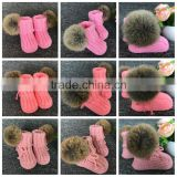 0-3-6-12 Month Cheap Wholesale Shoes In China New Baby Shoes/Booties Crochet Infant Booties