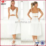 New fashion A-line chic mid-calf length and high waist skirt, fashion women divided skirt