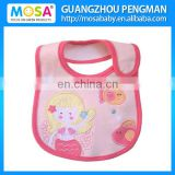 100% Cotton Pink Baby Bibs for Girls