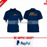 front and back logo printed corporate polo tshirt