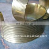 Brass Concave Ribbed Cuff