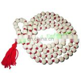 Natural Wooden Beads String (mala), size: 9mm
