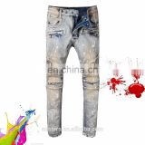 Stretch Biker men skin tight jeans rip skinny spray on denim jeans high quality