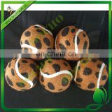 leopard print dog tennis ball
