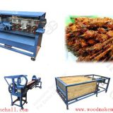 Full production line wooden bamboo barbecue skewers stick making machine supplier in China