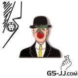 GS-JJ Cool Gentleman Custom Enamel Pins 1.5
