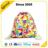 Novelty design amphibious polyester customized cotton string bag