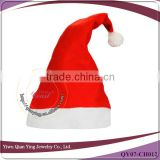 party supplies non-woven red and white custom santa hat