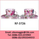Professional Custom Made Personalized Ceramic Bulk Water Cups and Saucers Cheap with Good Quality